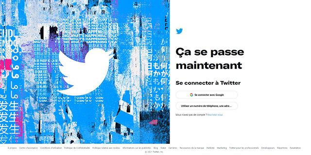 Page de connexion Twitter